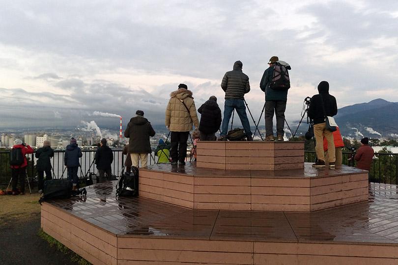 田子の浦みなと公園の撮影風景