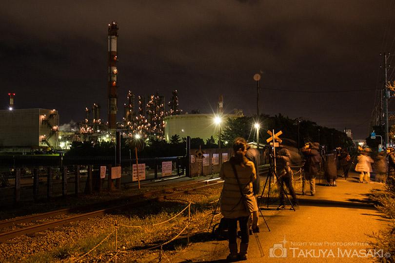 水江運河前の撮影風景