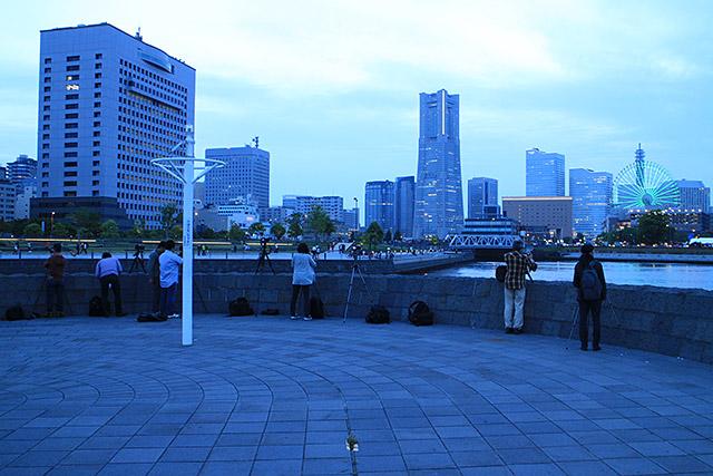 撮影実習風景(横浜)