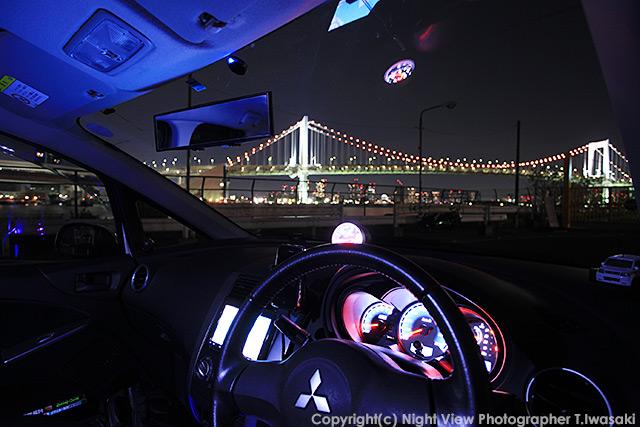 レインボーブリッジの車窓夜景