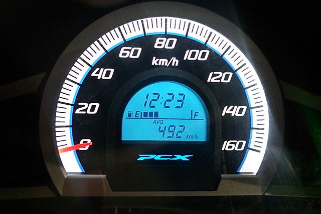 pcxのスピードメーター