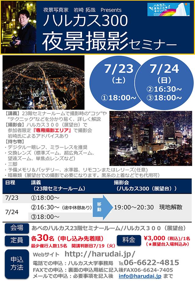 大阪・ハルカス300(展望台)で夜景撮影会を開催!