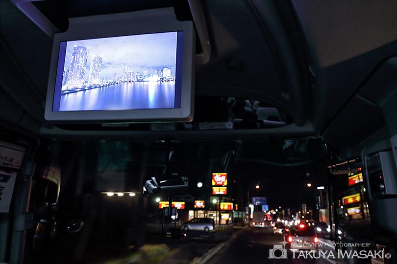 モニターを使って夜景フォトギャラリー