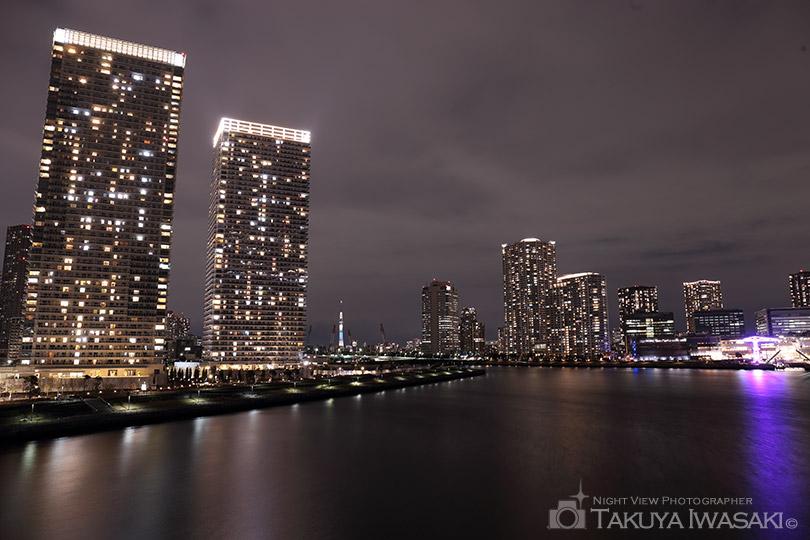 晴海大橋からの夜景