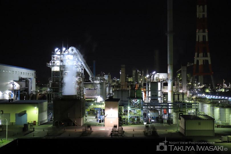 砂山都市緑地の工場夜景